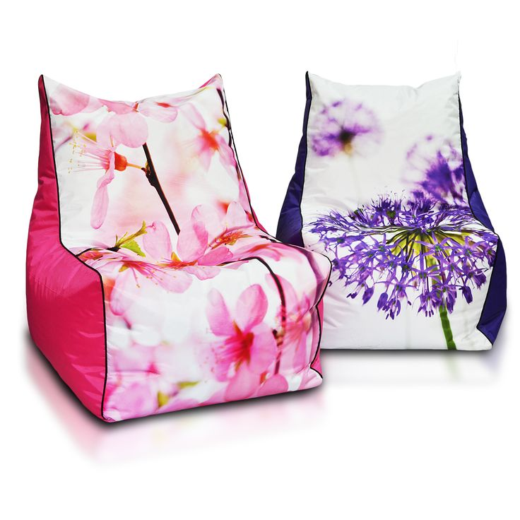 Beautiful pouf for a teenager. Adapts to the body. #flowers #armchair #chair #fotel