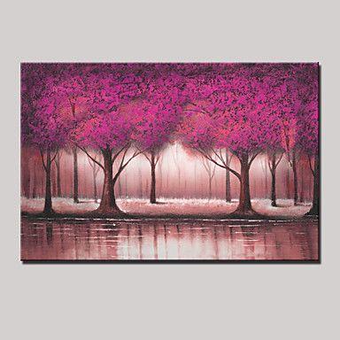 moderna pintura bonita árvore de petróleo pintados à mão paisagem abstrata sobre tela um painel, pronto para pendurar 70x130cm de 4695982 2016 por R$179,03