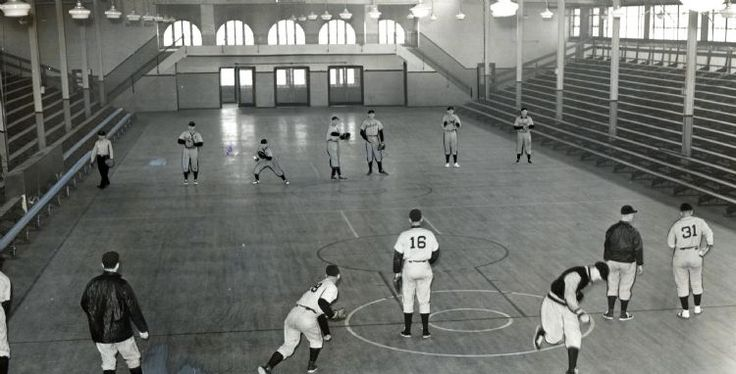 Detroit Tigers spring training in Dayton, Ohio in 1940. (The Detroit News)