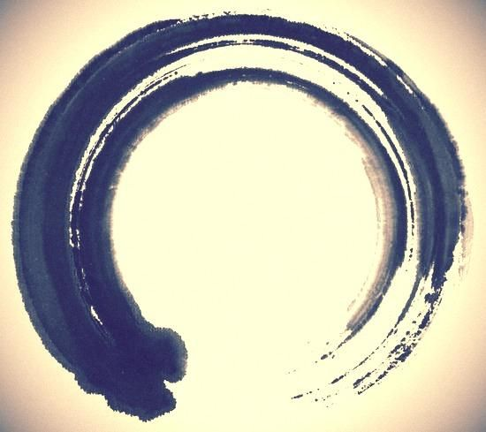 Enso, a Japanese word meaning circle. When drawn with an opening, it can suggest that imperfection is an inherent part of existence. The enso is also strongly associated with zen, symbolizing absolute...  http://www.poe3.com/411