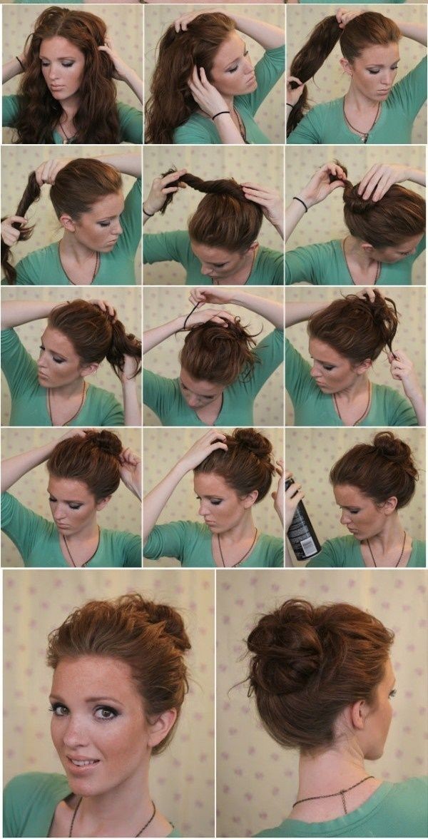 Best Hairstyles For Medium Hair Images On Pinterest - Diy medium hairstyle