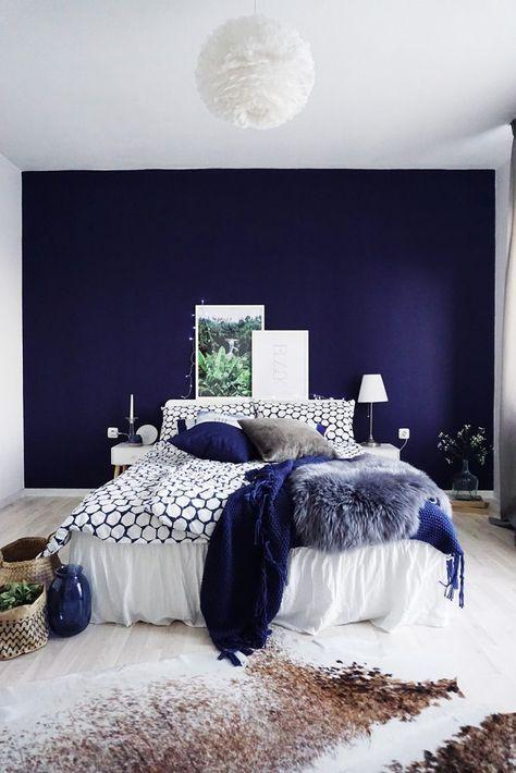 Die besten 25+ midnight blue Schlafzimmer Ideen auf Pinterest - wandfarben ideen schlafzimmer