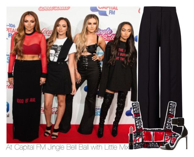 """At Capital FM Jingle Bell Ball with Little Mix"" by swaggxdirection ❤ liked on Polyvore featuring Miss Selfridge, Yves Saint Laurent and MAC Cosmetics"