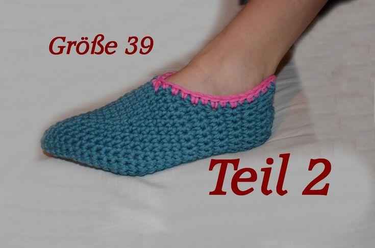 Häkeln Puschen Schuhe - Größe 39 - Teil 2 - Veronika Hug