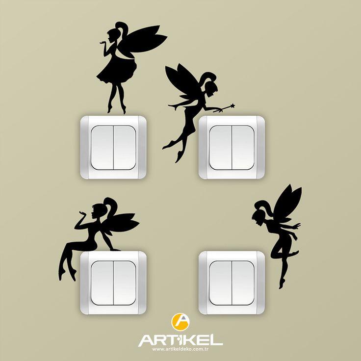 """""""Periler"""" sticker modeli ile priz'lerinizde fark yaratın.. #prizsticker #art"""