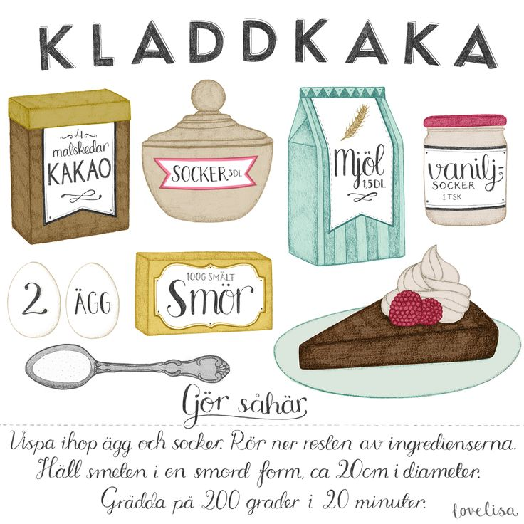 Kladdkaka Illustrated Recipe by Tovelisa