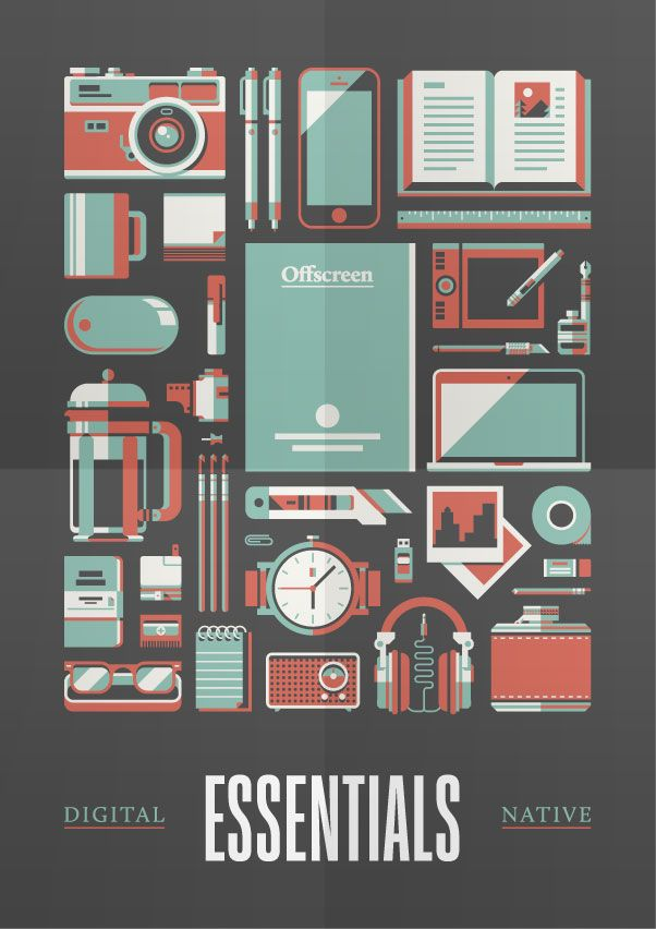 Trendgraphy: Offscreen Magazine | Must be printed #Flat #Depth #Vintage