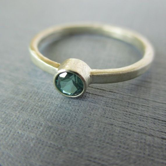 Simple Satin and Green.  Green Topaz and Sterling by LunasaDesigns, $82.00