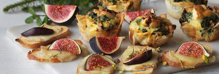 Hemkop.se | Frasiga minipajer med grönkål, getost & valnötter