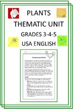 Plants Thematic Unit (Intermediate) for Very Busy Teachers  http://www.teacherspayteachers.com/Product/Plants-Thematic-Unit-Intermediate-for-Very-Busy-Teachers-239662
