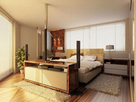 Modern Bedroom design with minimalist ancient furniture