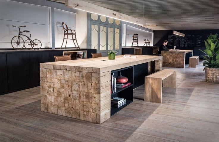Massief houten bureau op maat