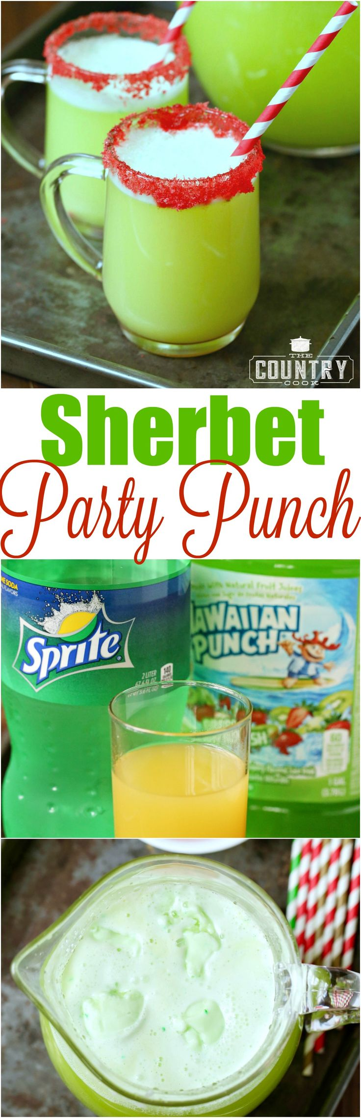 Beverage Recipes: Holiday Party Sherbet Punch - The Country Cook