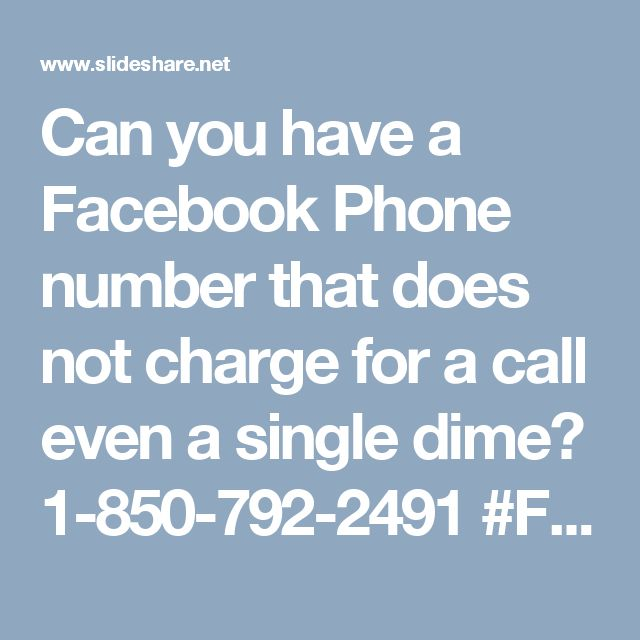 Can you have a Facebook Phone number that does not charge for a call even a single dime? 1-850-792-2491 #Facebooksupport #Facebookcustomersupport #Facebookphonenumber #Facebooksupportnumber Yes, you can make it. Try not to get so bowed. You should simply to get your telephone and place your fingers down on your phone keypad and dial up number 1-850-792-2491which is a worldwide cum sans toll number and can be dial-capable from each alcove and corner the world over. Subsequently, at whatever…