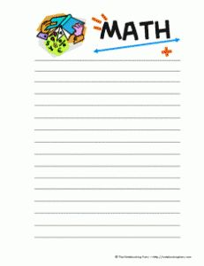 color math notebooking page for logging math concepts, formulas etc. to remember