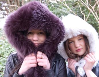 Sheepskin Hood and Faux Fur Astro Hood