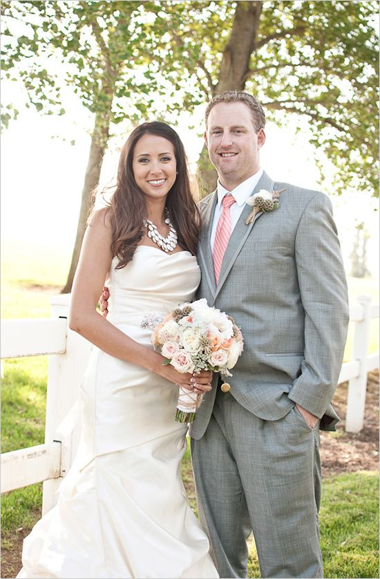 Grey suit black short wedding dresses