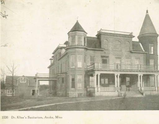Dr Kline S Sanitarium Anoka Minnesota County Historical Society Located On