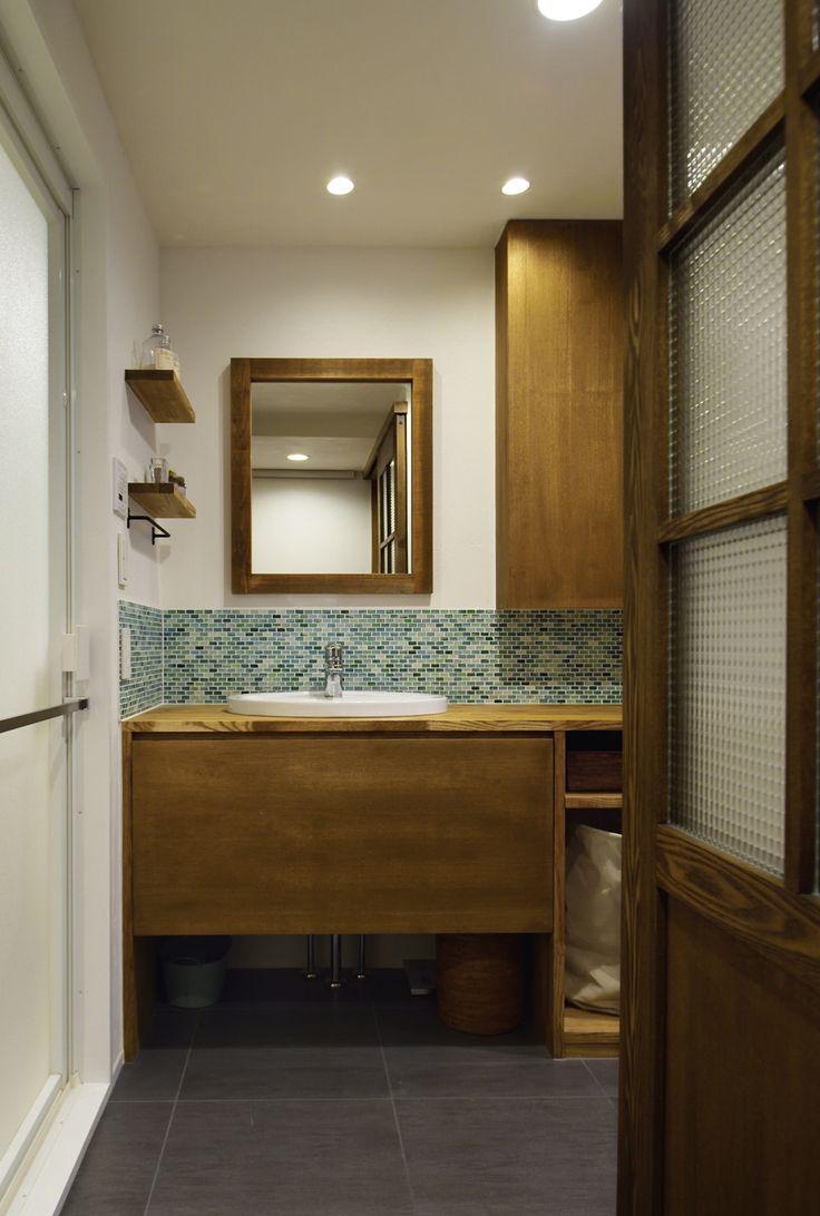 リフォーム・リノベーションの事例|洗面|施工事例No.496無垢材や珪藻土。ほんもの素材はパパとママからの贈り物|スタイル工房