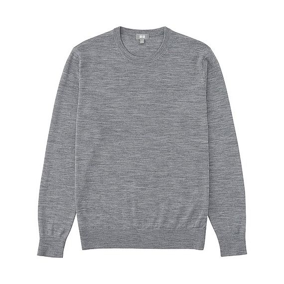 Merino Crew Neck Grey - Uniqlo