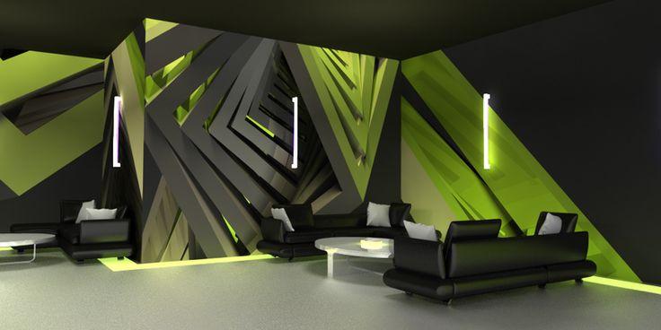 3D Ukázka tapety cuber green #3