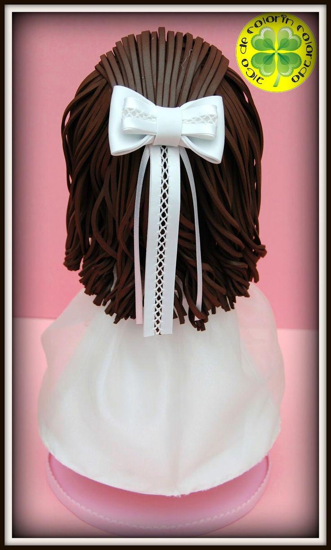 Comienza la semana y hoy os traemos una nueva fofucha de comunión, se llama Nerea y lleva un traje de organza blanco elaborado sobre una base de gomaeva. Lleva unos zapatos con una flor en un lateral, unos guantes de rejilla y un gran lazo recogiendo el pelo.  ¡Esperamos que os guste!