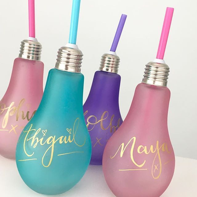 Well if you leave stuff lying around and it gets personalised, then it's your own fault.  You know what I'm like and you should know better ✨ Picked up these cute lightbulb water bottles from @homebargains yesterday. And what a bargain at only 69p. Perfect for some half term play date treats. . . . #homebargains #bargainshopper #kidsdrink #personalisedgifts #createcommune #createeveryday #creativityfound #creativelifehappylife #Craftymom #momlife #mumlife #calligrafriends #handlettering…