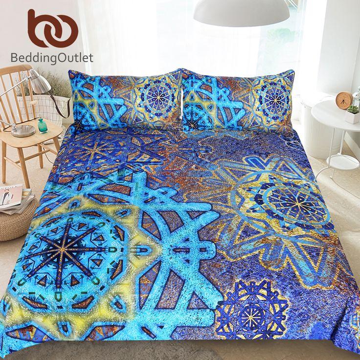 Beddingoutlet Snowflake Bedding Set Mandala Flower Duvet