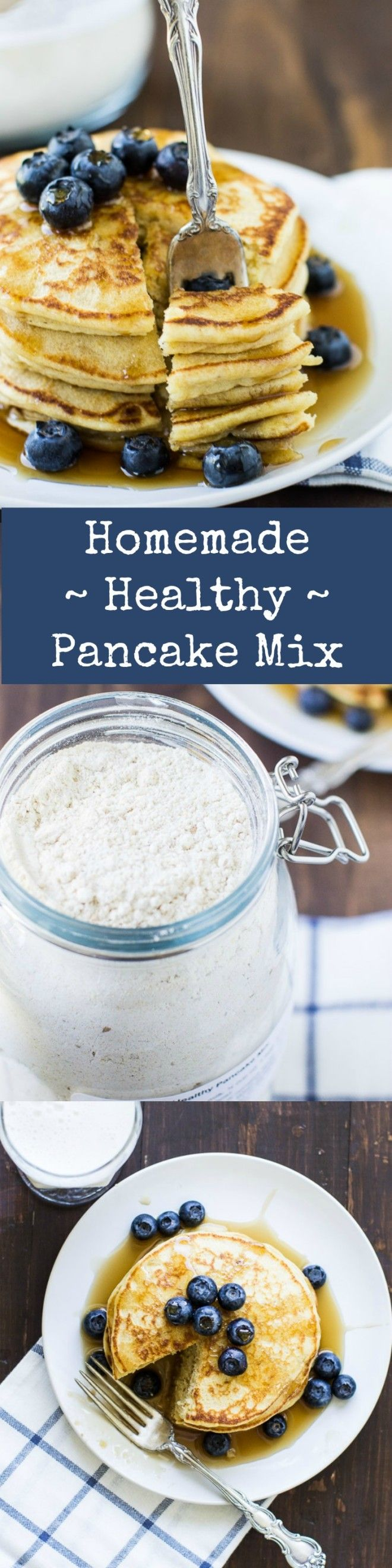 Customize your own blend of homemade Healthy Pancake Mix with this tried-and-true recipe. So quick and easy, you'll never go back to store-bought again!