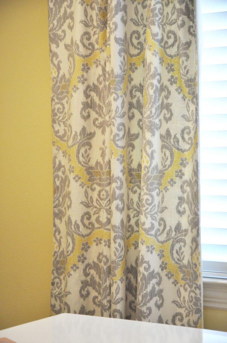 Fabric | Grey, yellow living room, Curtains, Yellow, grey ...