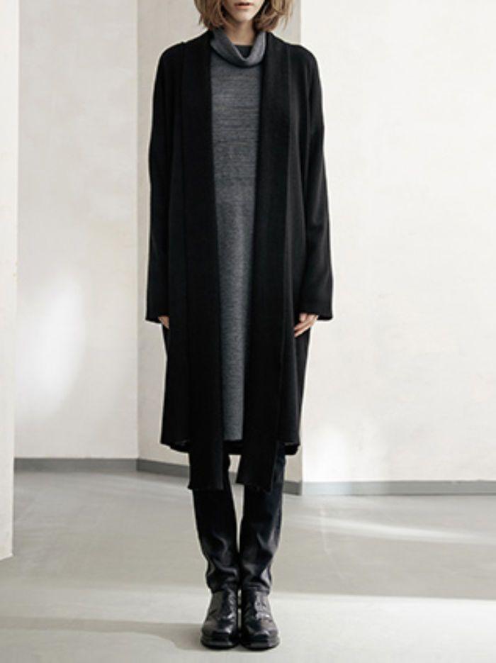 Slit Wool blend Cardigan