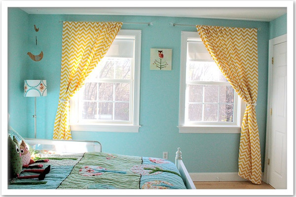 chevron living room curtains 25 best images about yellow and aqua living room on 15325