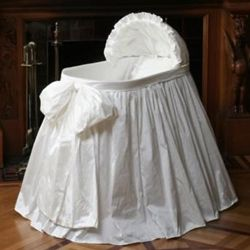 Bassinet Cover - mom covered the bottom... no bow... love it