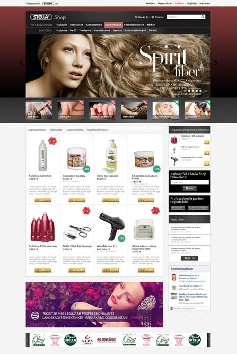 Stella webshop design & development