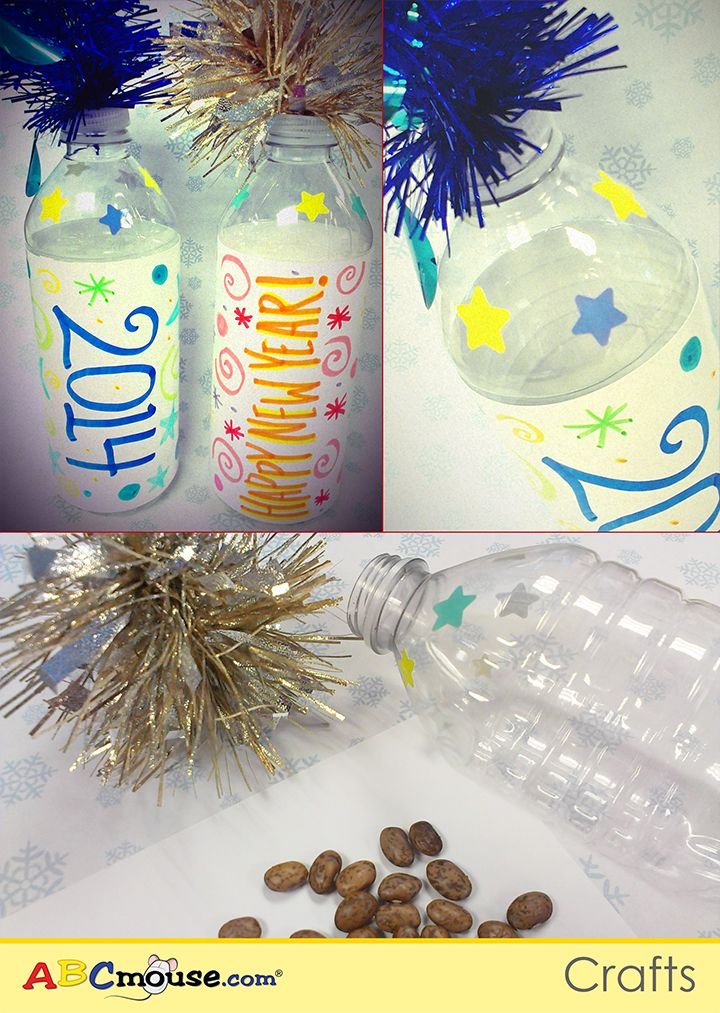 Put together noisemakers with the kids to ring in the new year! Get a  plastic a461493c3cc3
