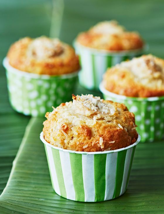 Banana and coconut muffins http://www.sainsburysmagazine.co.uk/recipes/baking/muffins-and-cupcakes/item/banana-and-coconut-muffins