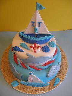 Sweet cookies 4 you: Καλοκαιρινή Τούρτα Καραβάκι(Sailboat Cake)