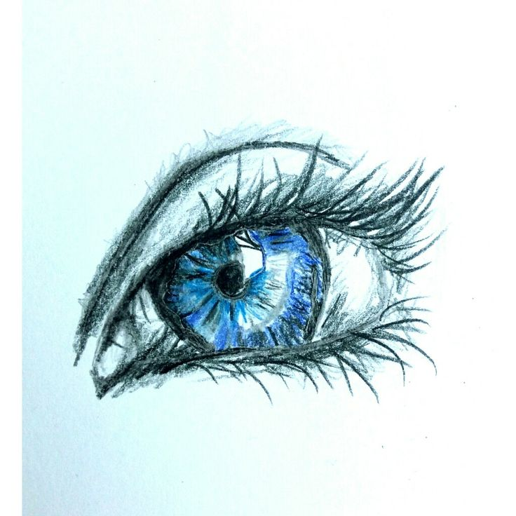 Drawing blue eye.