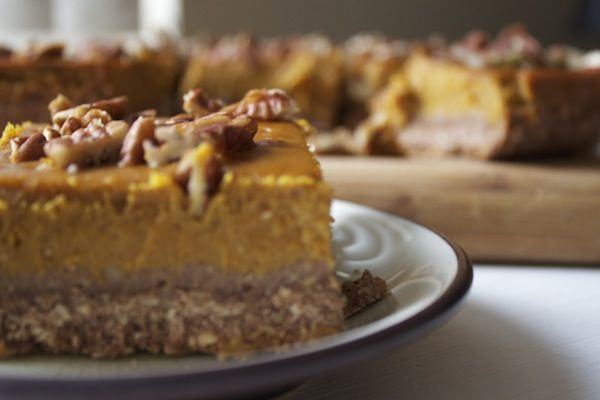 Pumpkin Bars with Maple-Pecan Cookie Crust