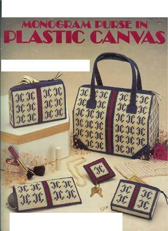 Plastic Canvas Monogram Purse Pattern - Purse Accessories - Leisure Arts 373