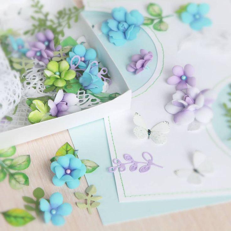 цветы для открыток и скрапа своими руками