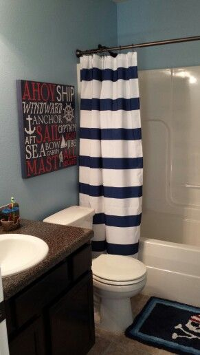Best Nautical Kids Bathrooms Ideas On Pinterest Kids Beach - Kids bathroom shower curtains for small bathroom ideas