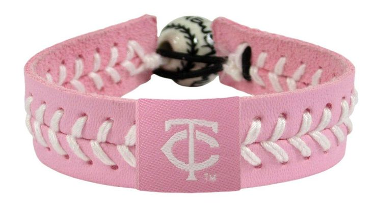 Minnesota Twins Baseball Bracelet - Pink Style