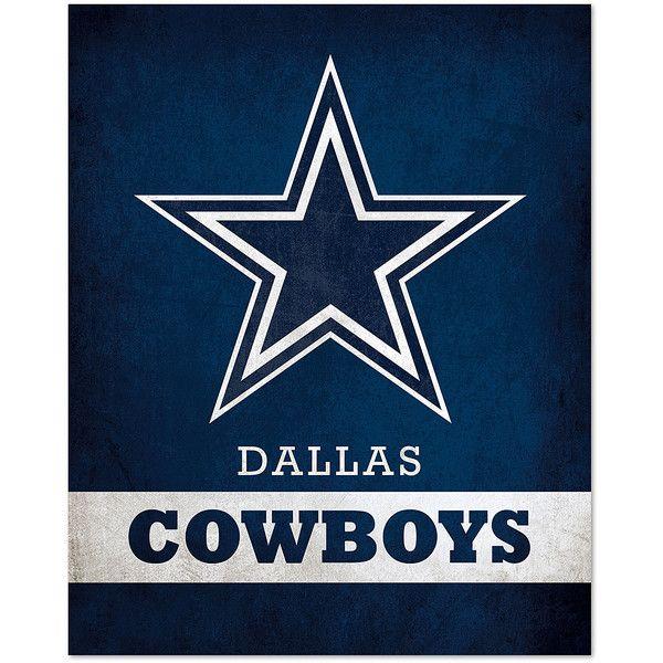 5 Panel Dallas Cowboys Canvas Prints Painting Wall Art Nfl: Artissimo Designs Dallas Cowboys Pride Logo Wall Art ($15