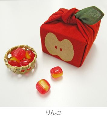 Apple fabric for packaging. So cute!