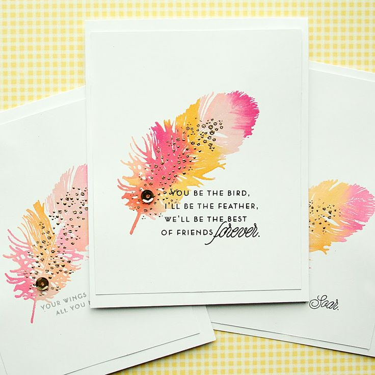 Best Of Friends Card by Danielle Flanders for Papertrey Ink (January 2014)