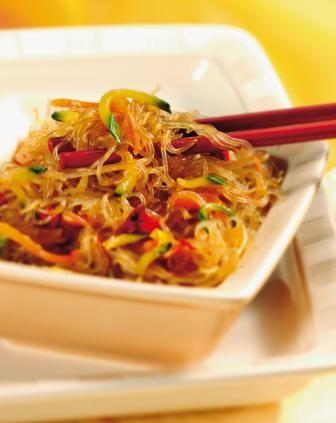 vermicelli di soia con verdure, Cina