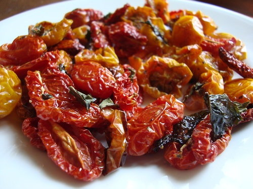 Oven roasted tomatoes with basil…RECIPE | RECIPES | Pinterest