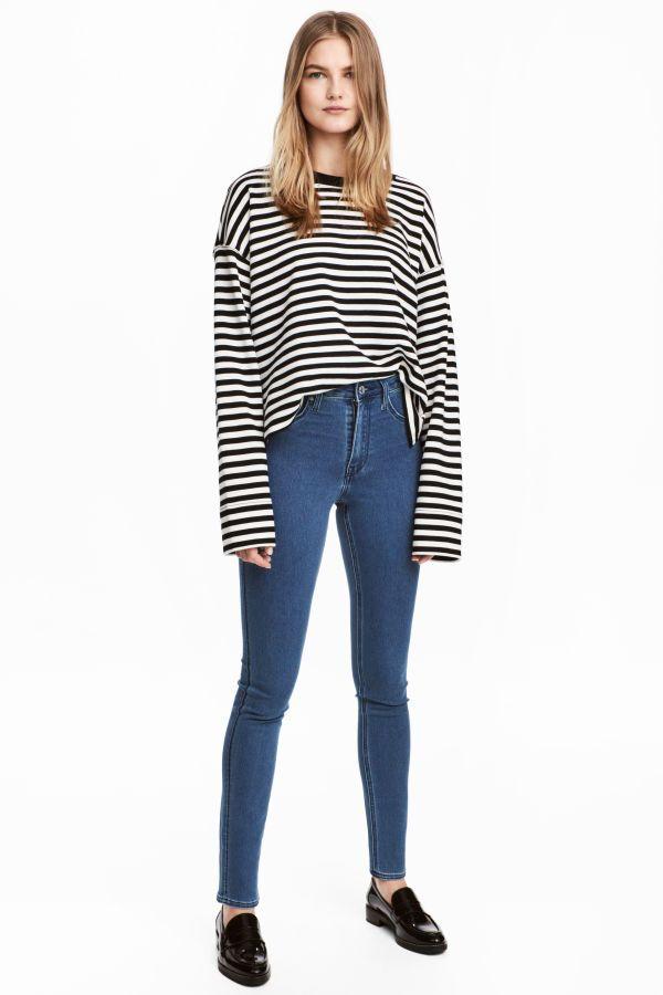 c786a0281da8b Skinny High Waist Jeggings | Denim blue | WOMEN | H&M US | Clothes I ...
