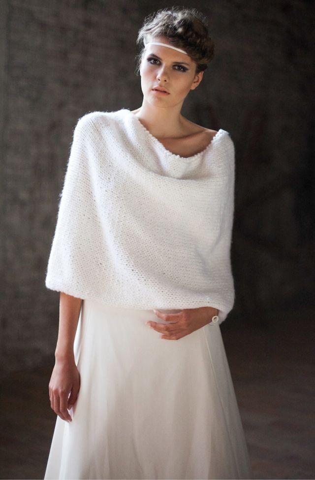 Châle blanc en maille Orlane Herbin 2014 - modèle Snood Muse, jupe Lenningrad La Fiancee du Panda Blog mariage & Lifestyle